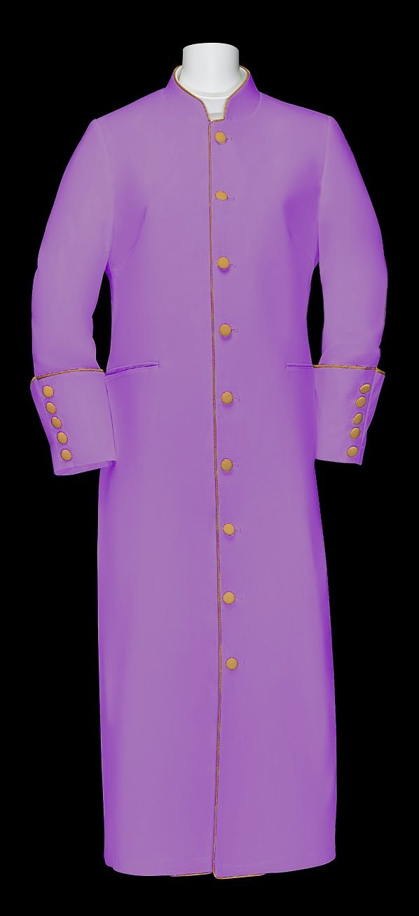 157 W. Women's Clergy/Pastor Robe Lavender/Gold Trim