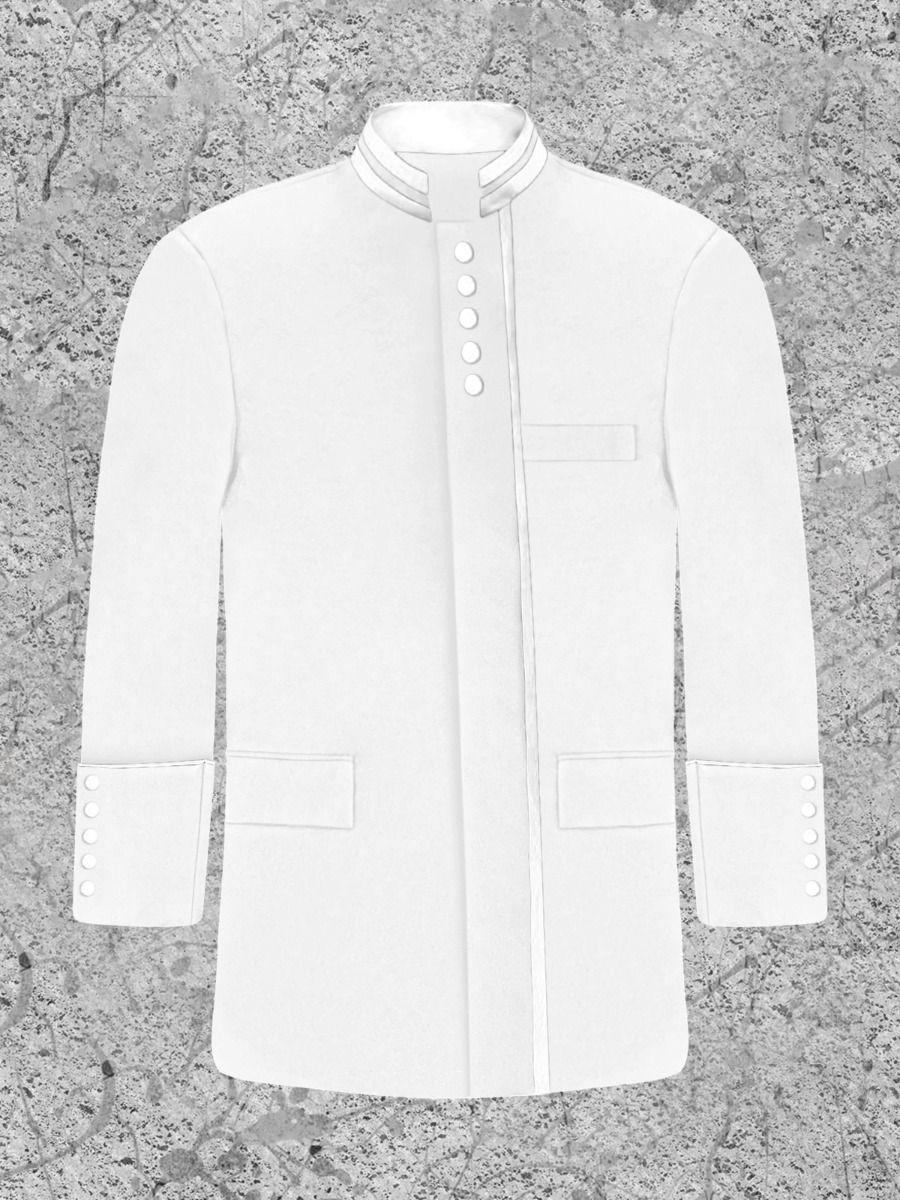 White Clergy Preacher Jacket