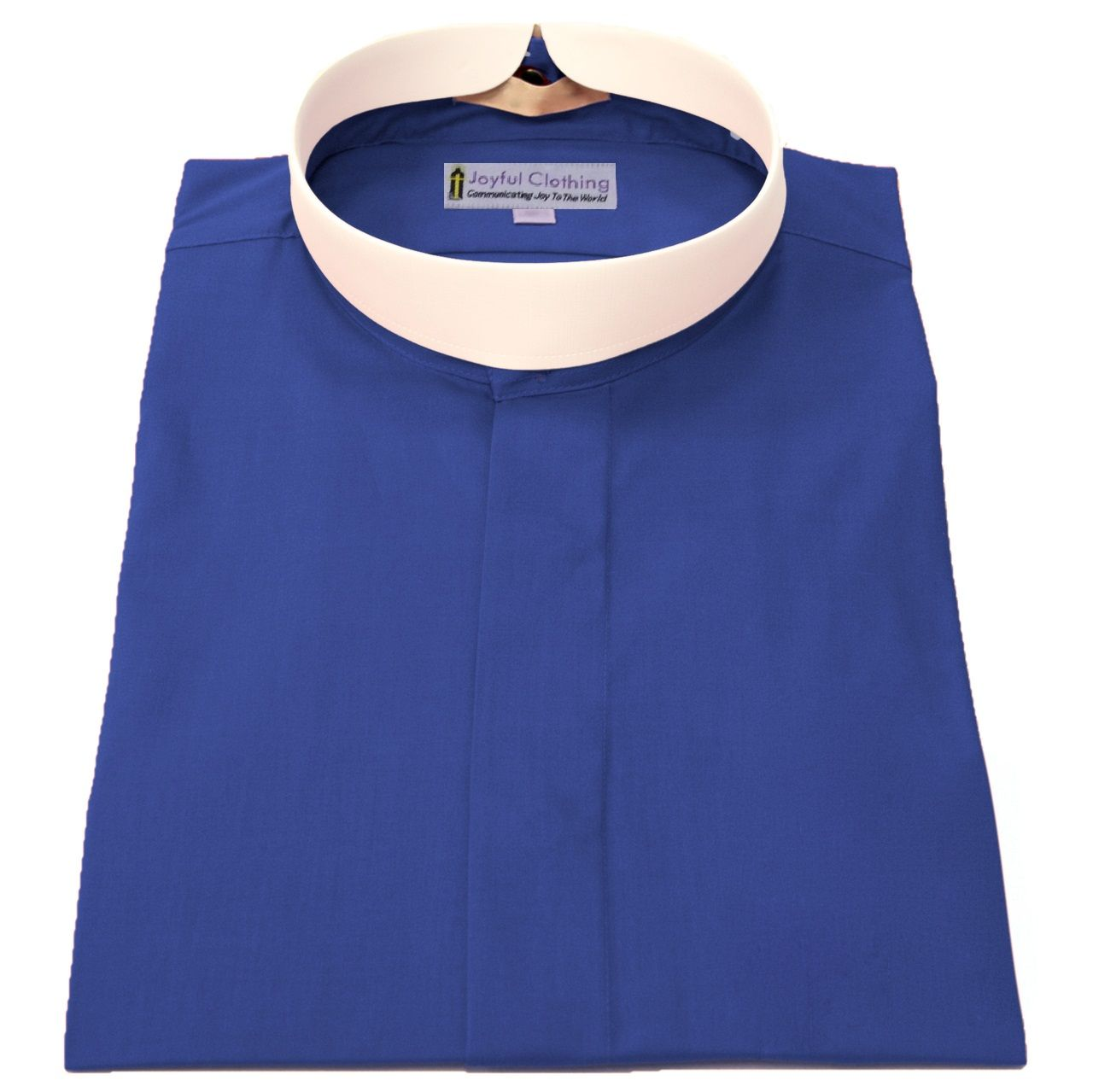 671. Women's Short-Sleeve (Banded) Full-Collar Clergy Shirt - Royal Blue