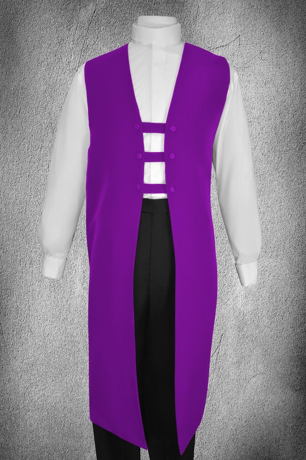 Ministerial Full Collar Vesture Set Purple/White