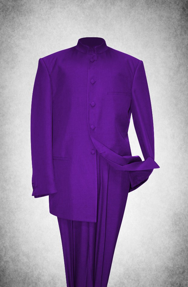 SU108. Premium Style Clergy Suit - Purple