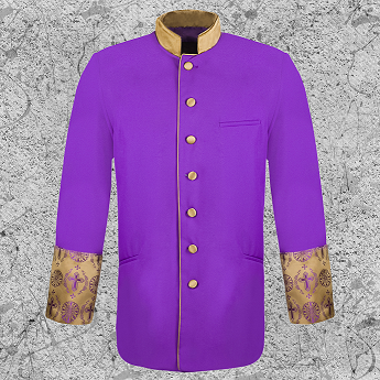 Men's Clergy Brocade Jacket Purple