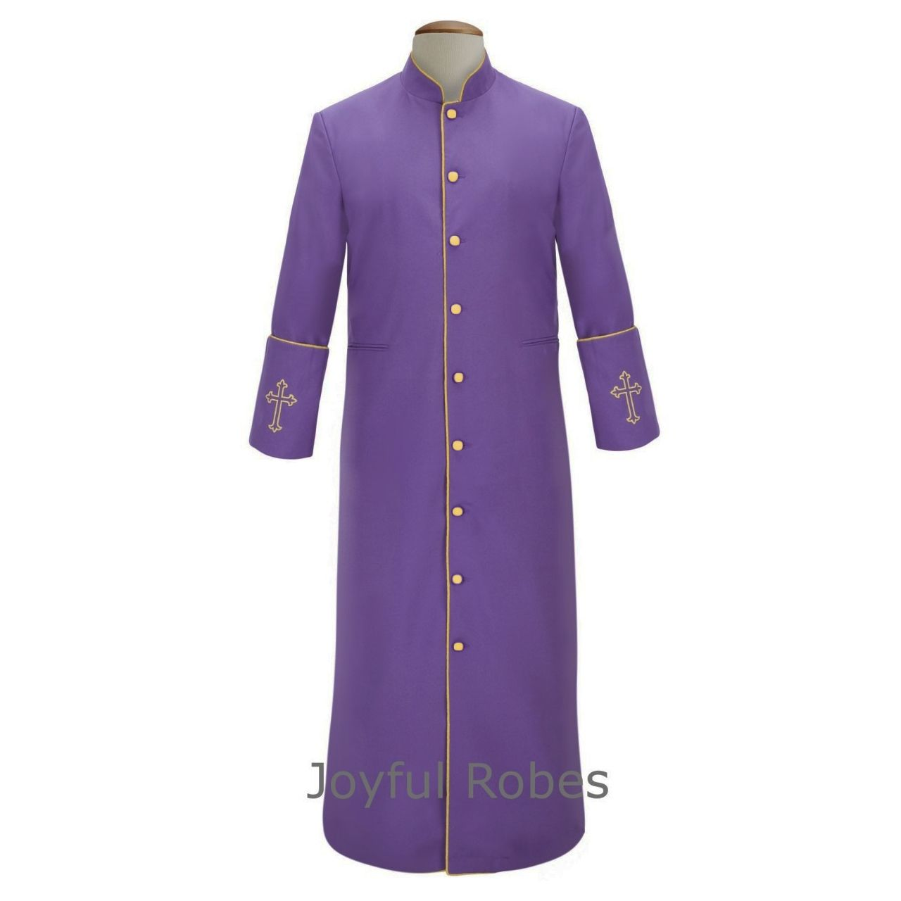 207 M. Men's Clergy/Pastor Robe Purple/Gold Design