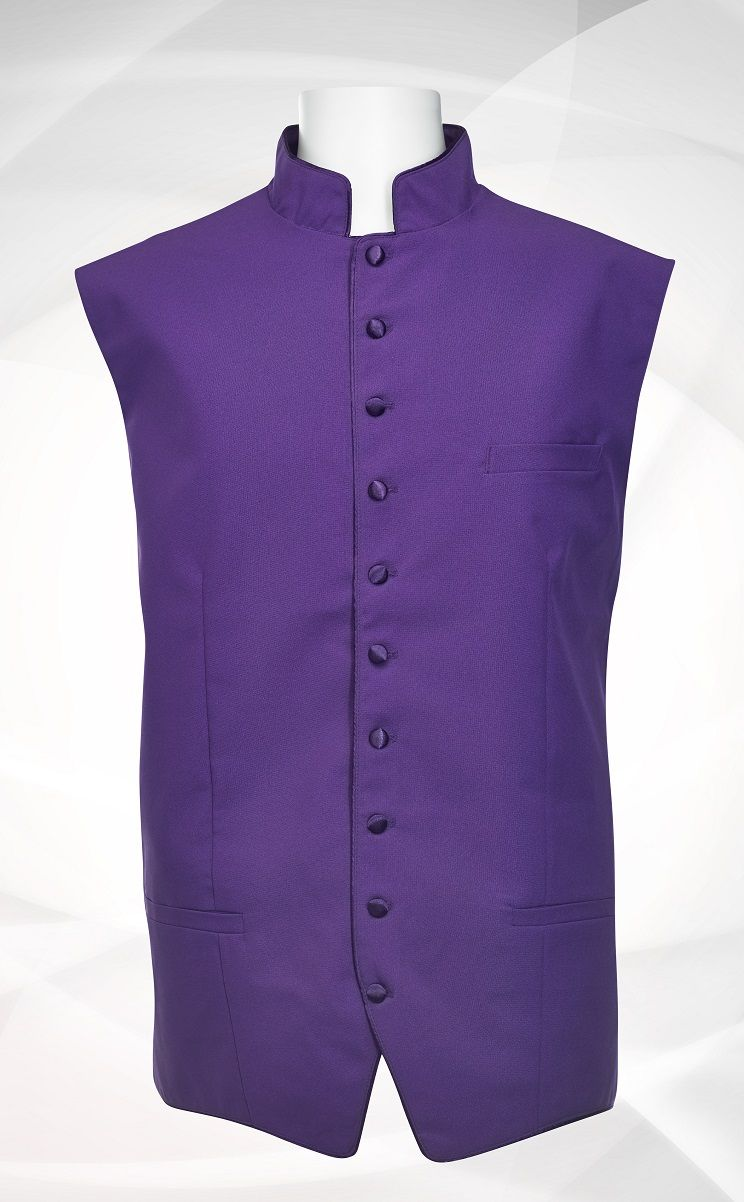 Men's Classic Clergy Vest - Solid Purple