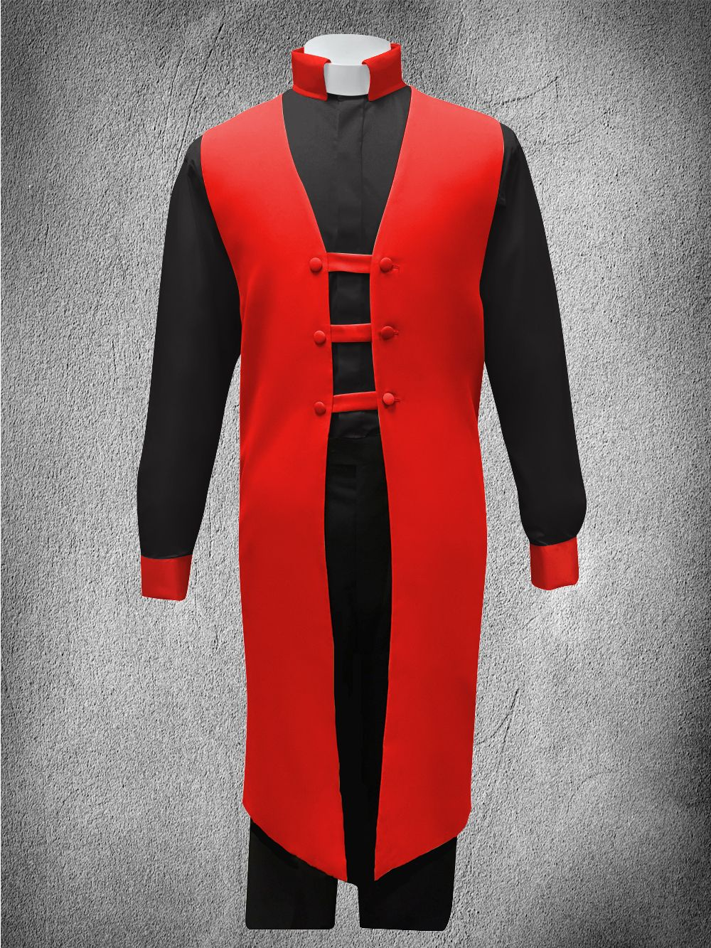 Contrast Ministerial Vesture Set Red/Black-Red