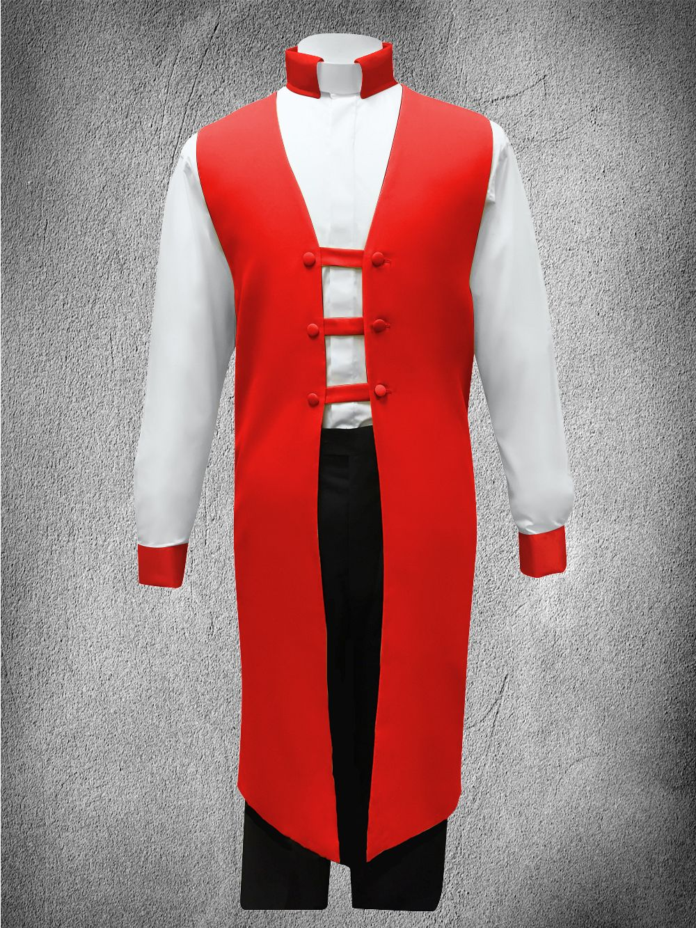 Contrast Ministerial Vesture Set Red/White-Red