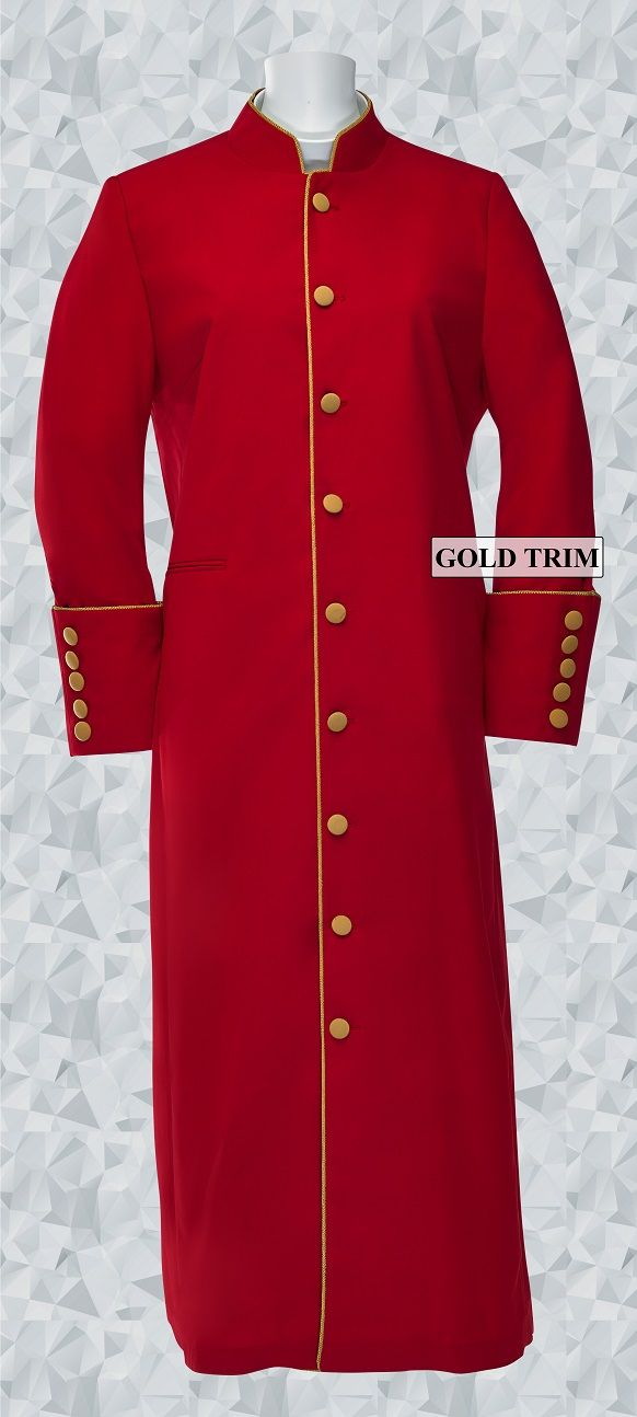 161 W. Women's Clergy/Pastor Robe - Red/Gold
