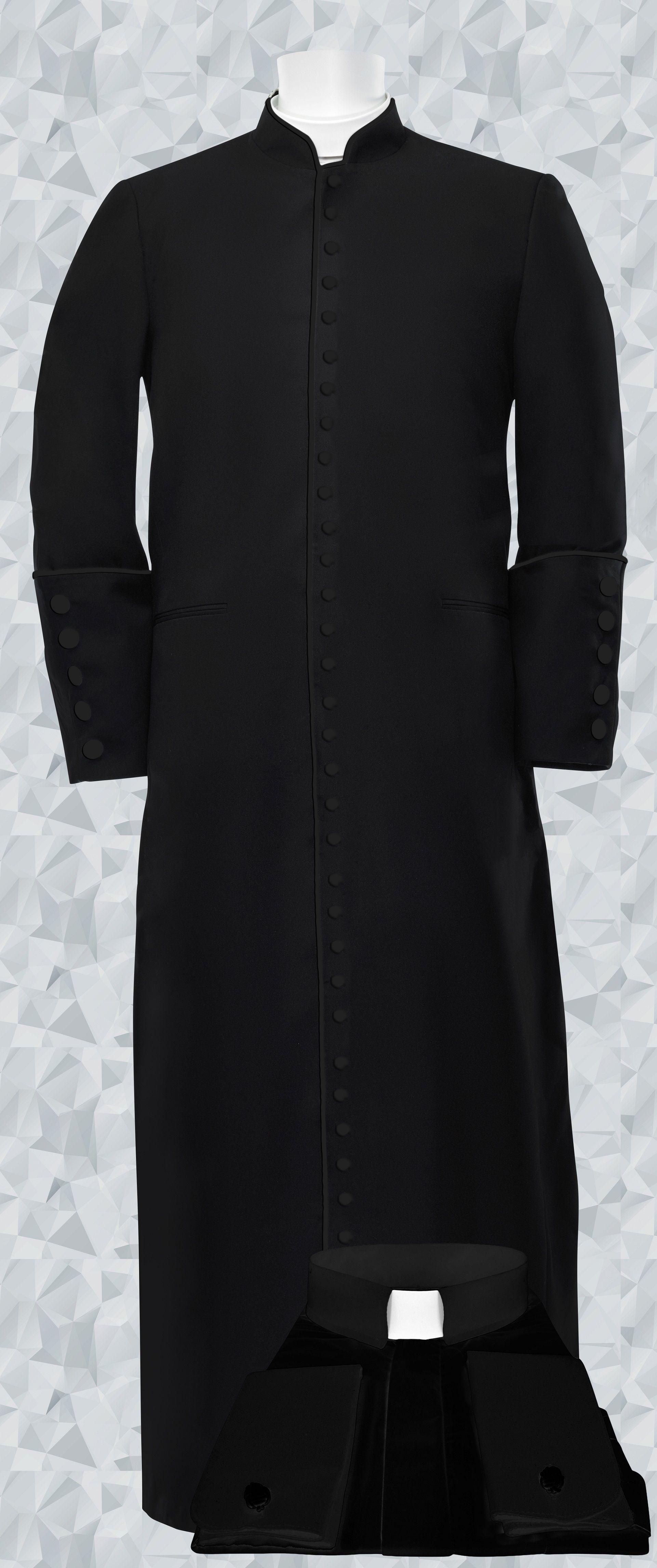 253 M. Men's Roman Cassock & Custom Shirt Package Black