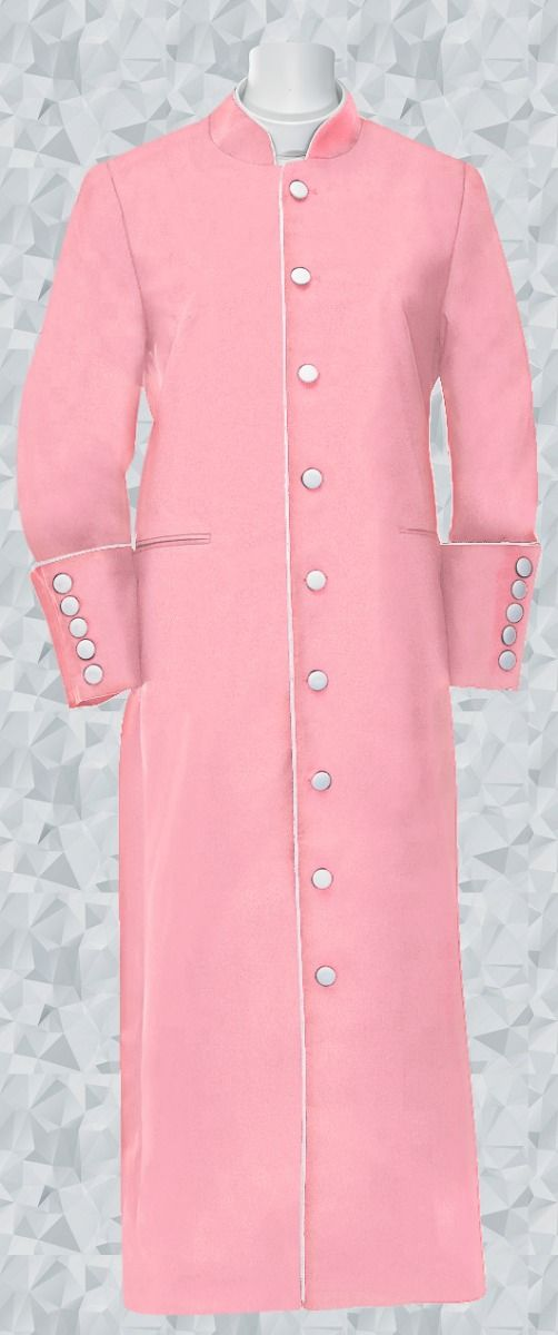 164 W. Women's Clergy/Pastor Robe - Rose/White Trim