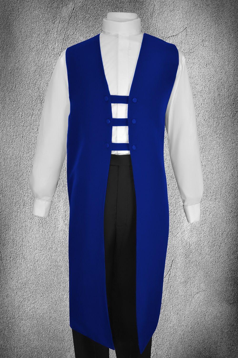 Ministerial Full Collar Vesture Set Royal/White