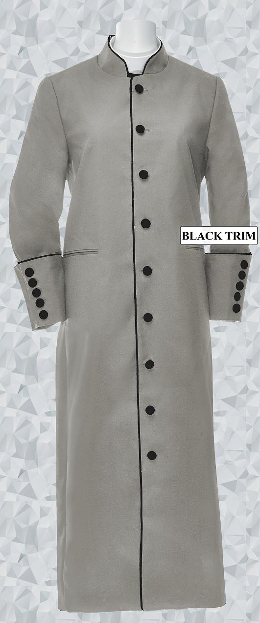 165 W. Women's Clergy/Pastor Robe Silver/Black Trim