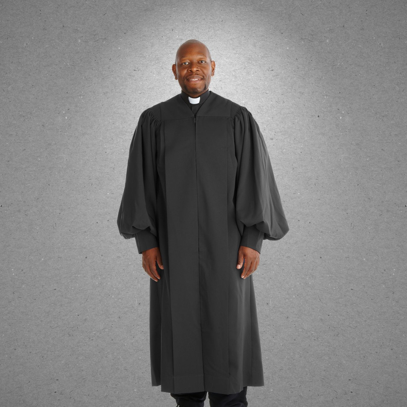 901 P. Men's & Women's Clergy Robe - Solid Black