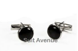 *2 Pc. Conservative Silver Cufflinks