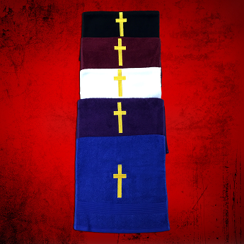 Clergy Towel with Gold Embroidery *1 Surprise Color*