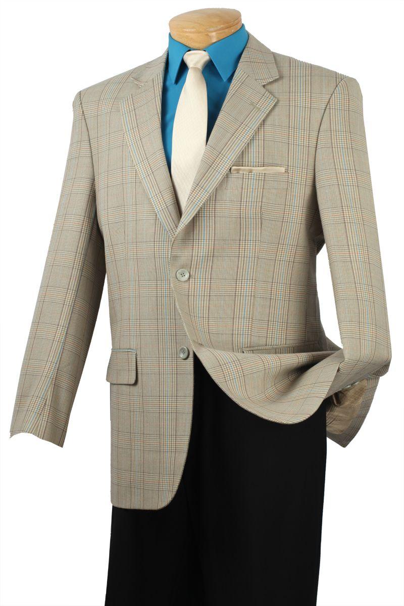 Chief Wool Check Sportcoat Blazer - Beige