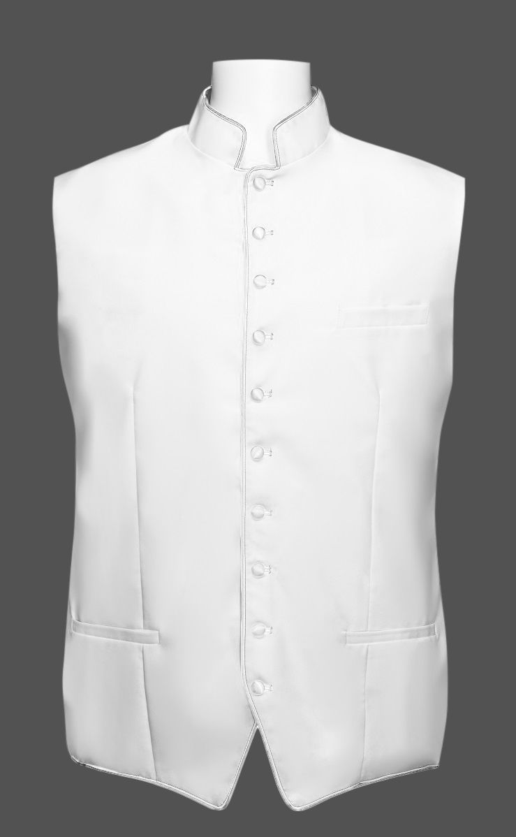 Men's Classic Clergy Vest - White
