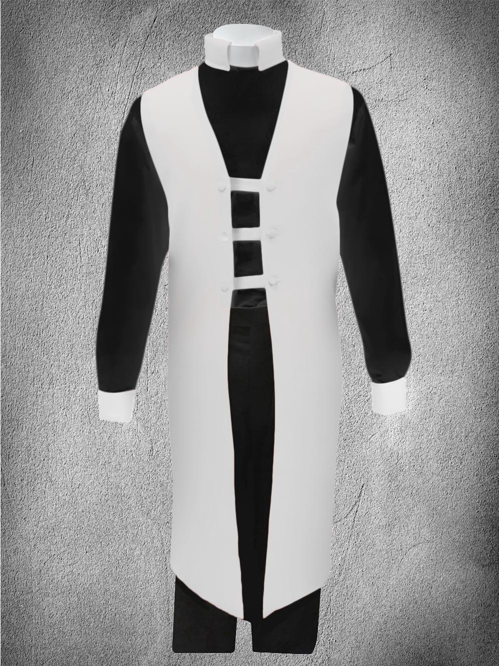 Contrast Ministerial Vesture Set White/Black-White