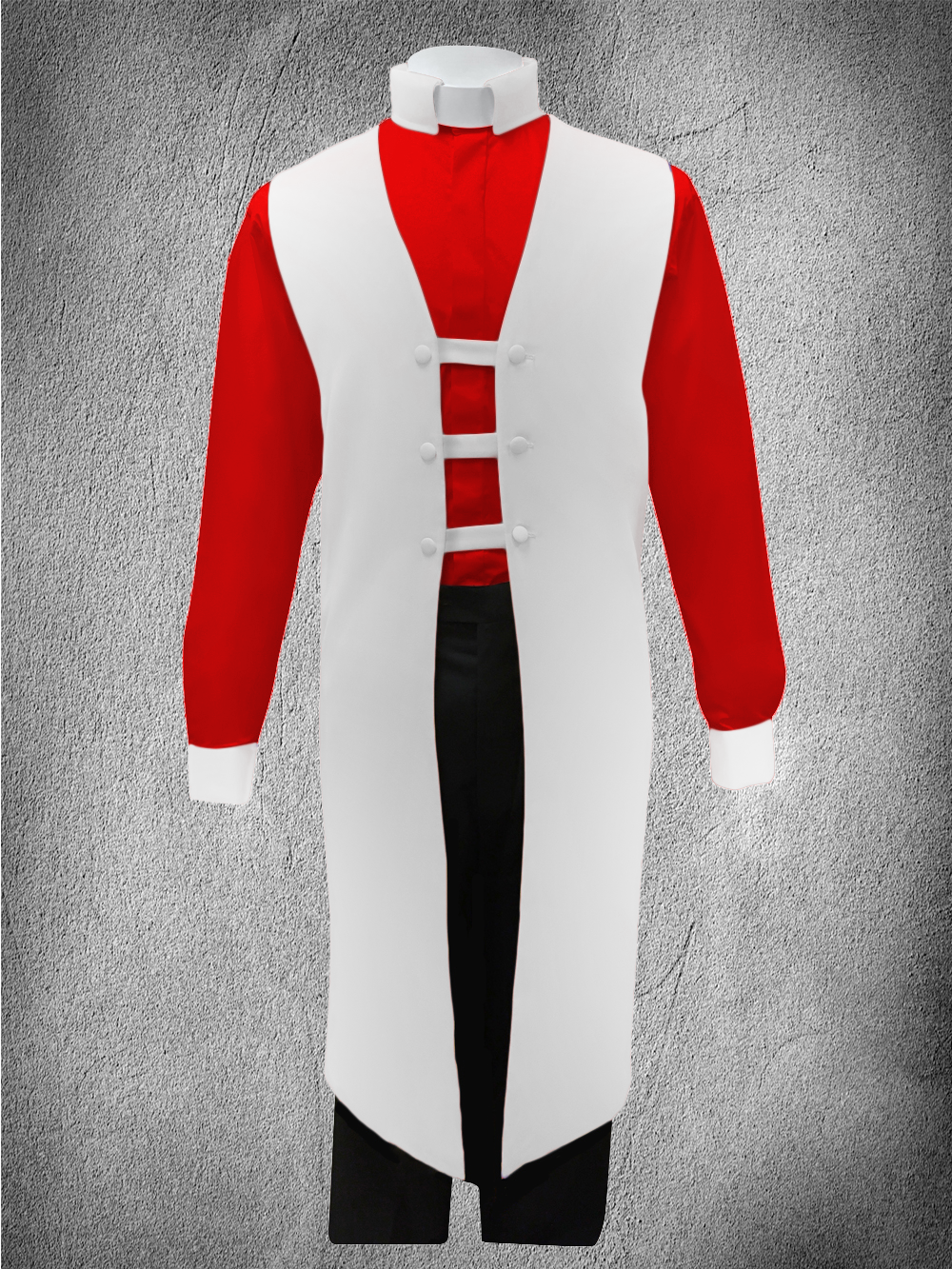 Contrast Ministerial Vesture Set White/Red-White