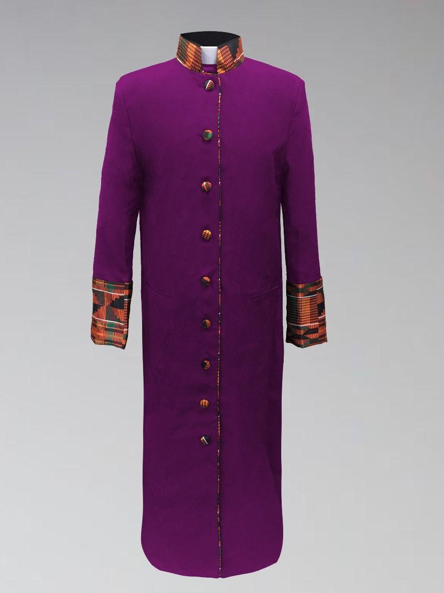 Ladies Purple Kente Cloth Clergy Robe