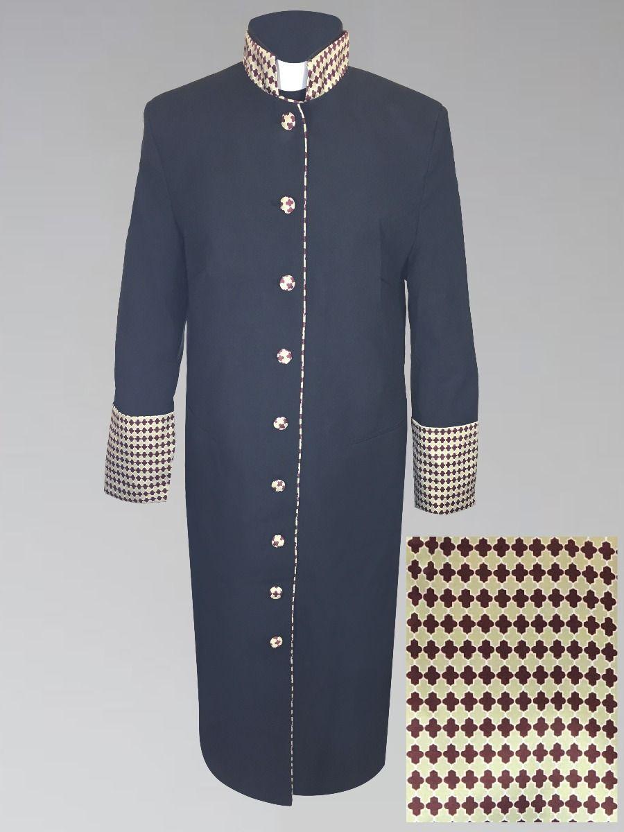 Women's Black Holiday Clergy Robe