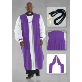 Bishop Purple Chimere and Clergy Rochet Set