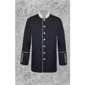 Men's Black and White Clergy Frock Jacket