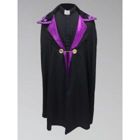 Clergy Ministerial Cape Black with Purple
