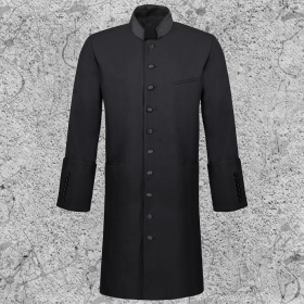 Men's Long Clergy Jacket Black
