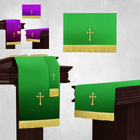 Reversible Purple and Green Church Parament Set