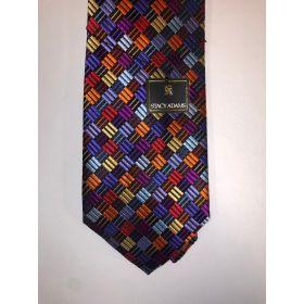 **Stacy Adams Premium Handmade Silk Neck Tie - Multi Color Checks