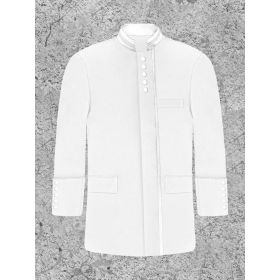 White Clergy Preacher Jacket