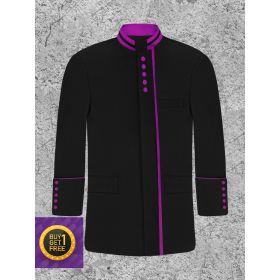 Black and Purple Bishops Clergy Jacket