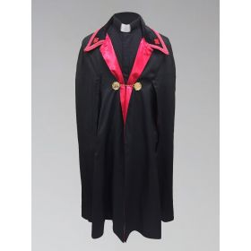 Clergy Ministerial Cape Black with Red