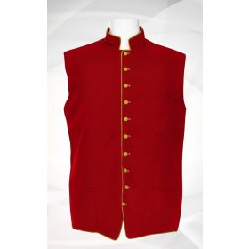 Men's Classic Clergy Vest - Red/Gold