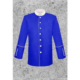 Men's Royal Blue and White Clergy Frock Jacket