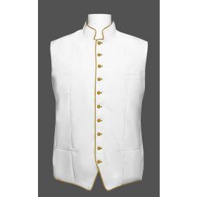 Men's Classic Clergy Vest - White/Gold