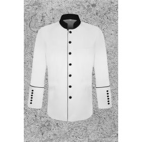 Mens White and Black Frock Coat