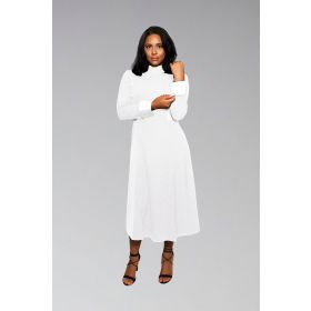 Solid White Dress for Female Clergy