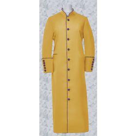 158 W. Women s Clergy Pastor Robe Gold Purple Trim 8d0257f65