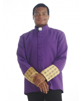 Men's Purple and Gold Frock Coat