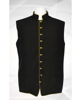 Men's Classic Clergy Vest - Black/Gold