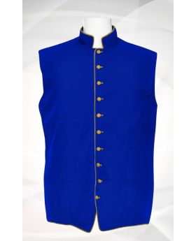 Men's Classic Clergy Vest - Royal/Gold