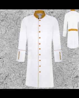 Men's Long White Clergy Jacket