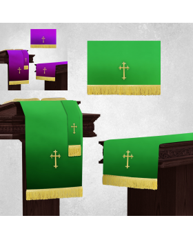 Reversible Purple and Green Church Parament Set