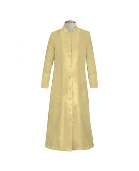 129 W. Women's Pastor/Clergy Robe with Satin - Champagne