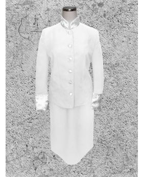 Women's White on White Clergy Suit