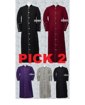 Pick 2- Men's Clergy/Pastor Robe Trim Robes