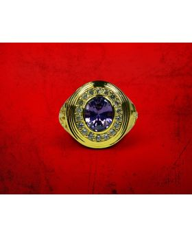 Bishop Amethyst Ring Gold with Purple Stone
