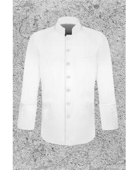 Men's White Clergy Jacket