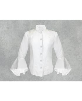 White on White Clergy Jacket for Women
